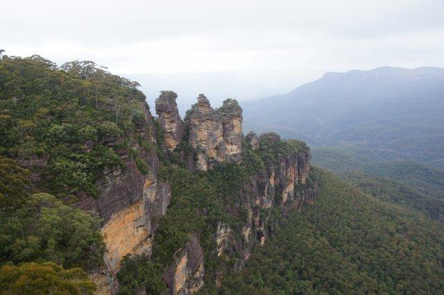 """Скала """"Три сестры"""", Голубые Горы Австралии"""