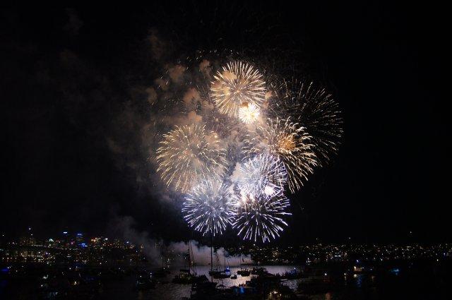 Новогодний салют в Сиднее, Австралия