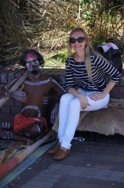 Фото с австралийским аборигеном