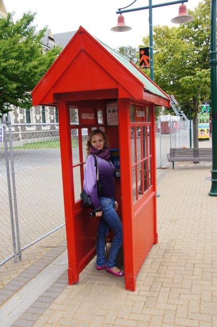 Телефонная будка в Крайстчерче, Новая Зеландия