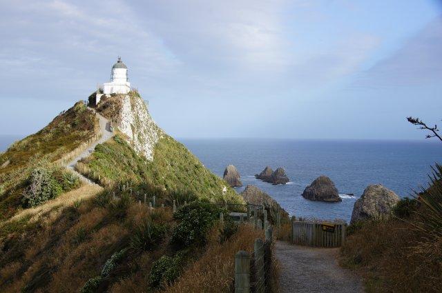Cliffs view и Tokata Lighthouse, Новая Зеландия