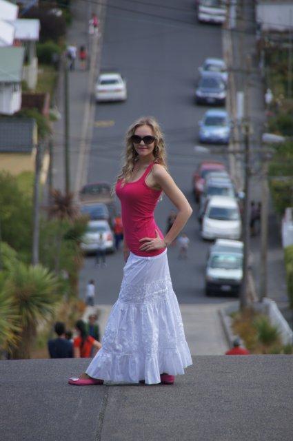 Самая крутая улица в мире, Данидин, Новая Зеландия