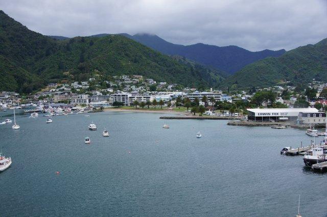 Порт в Пиктоне, Новая Зеландия