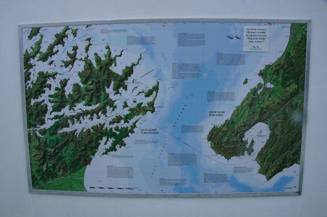 Карта маршрута Пиктон - Веллингтон, Новая Зеландия