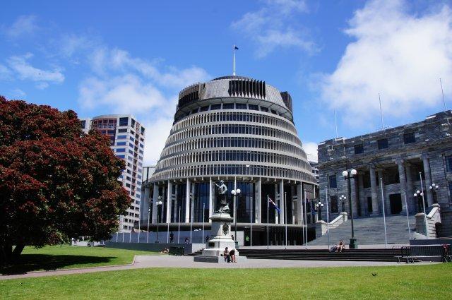 """""""Пчелиный улей"""", здание парламента, Веллингтон, Новая Зеландия"""