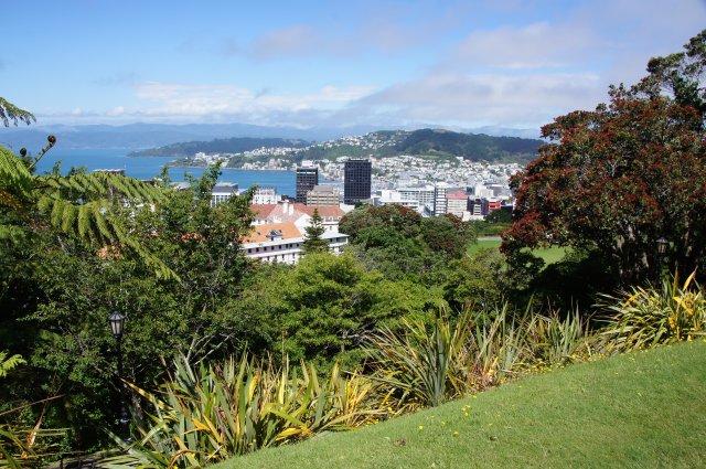 Вид на город из Ботанического Сада, Веллингтон, Новая Зеландия