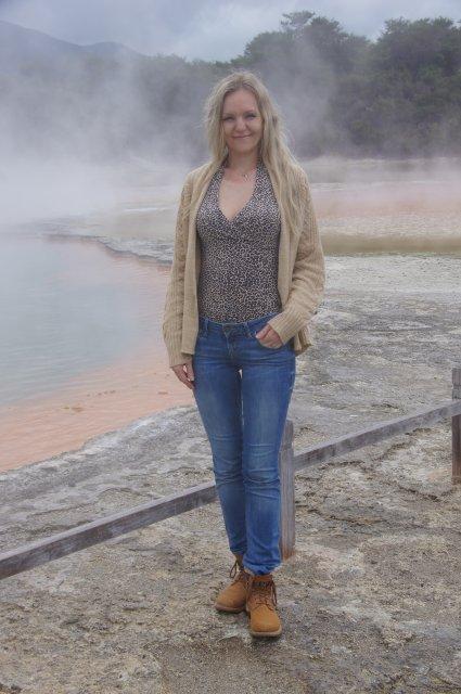Озеро Шампанского, Роторуа, Новая Зеландия