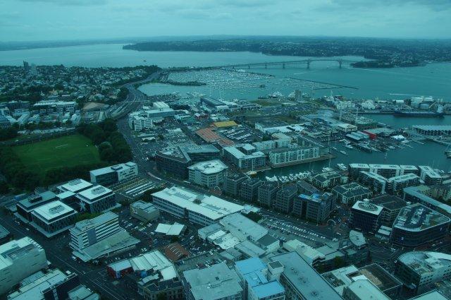 Вид с башни Sky Tower, Окленд, Новая Зеландия
