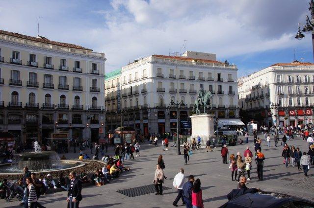 Площадь Пуэрта-дель-Соль, Мадрид, Испания