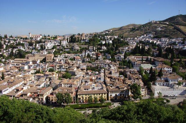 Вид с башни, замок Альгамбра, Гранада, Испания