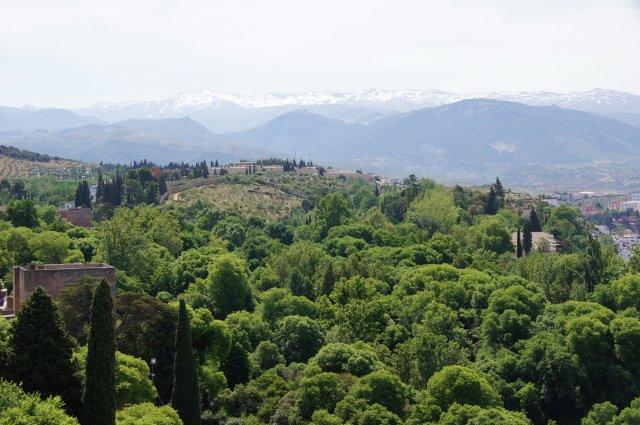 Вид с башни замка Альгамбра, Гранада, Испания