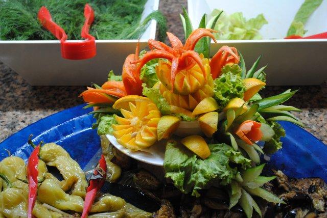 Фруктово-овощные букеты