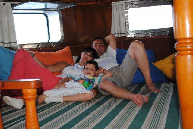 Отдыхаем в трюме яхты