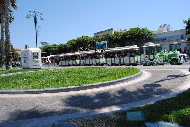 Туристический паровозик, о. Кос