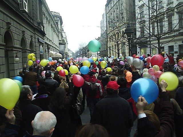 Празднование прихода весны в Белграде, Сербия
