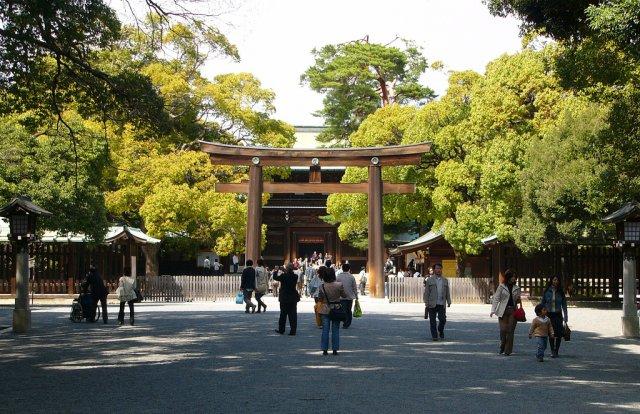 Вход в Храм Мэйдзи, Япония