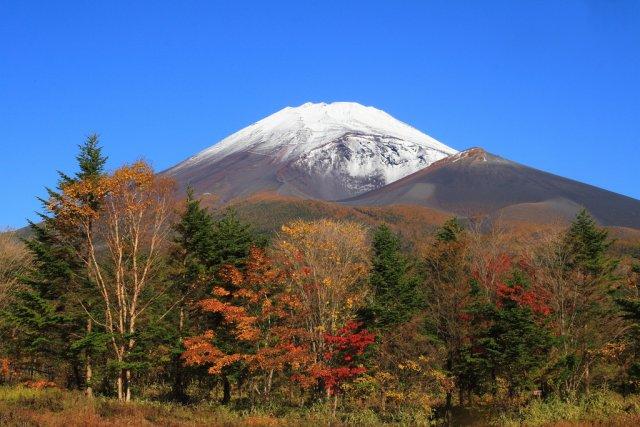 Вулкан Фудзи осенью, Япония