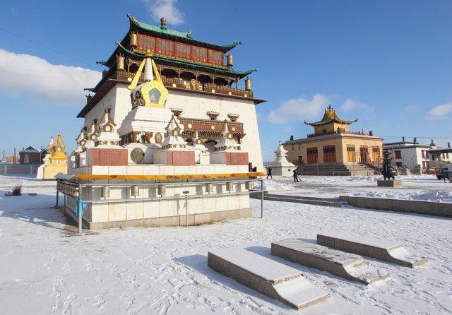 Монастырь Гандантэгчинлэн в Улан-Баторе, Монголия