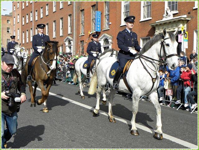 Празднование Дня памяти покровителя Ирландии, святого Патрика (Happy St. Patrick's Day), Дублин, Ирландия