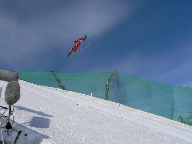 Прыжок с трамплина, горнолыжный курорт Холменколлен, Швеция