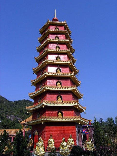 Буддистский монастырь в Гонконге, Китай