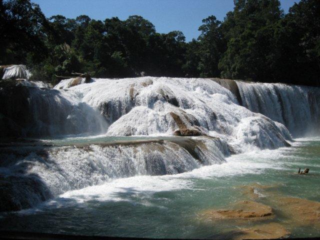 Каскады и водопады Мисоль Ха, Аква-Азул, Мексика