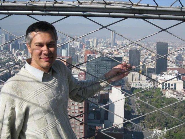 На крыше башни Тора Латиноамерикана, Мехико