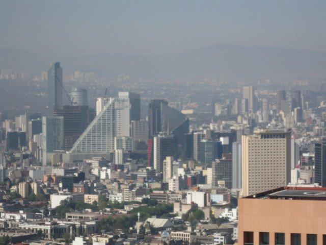 Вид с башни Тора Латиноамерикана, Мехико