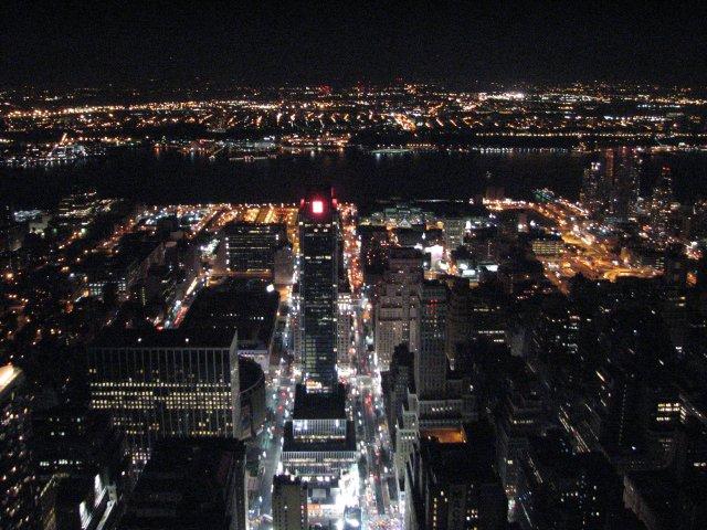 Вид с 86 этажа башни Empire State Building, Нью-Йорк