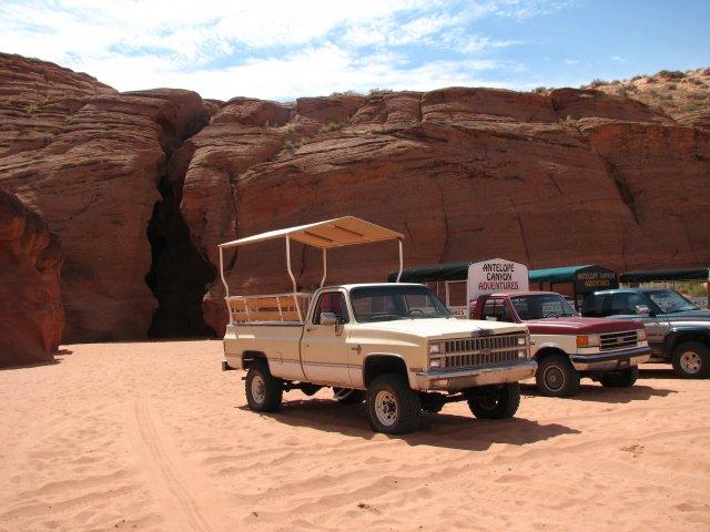 Джипы для транспортировки туристов, Каньон Антилопы, Аризона