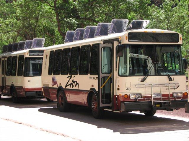 Автобусы в Парке Зайон
