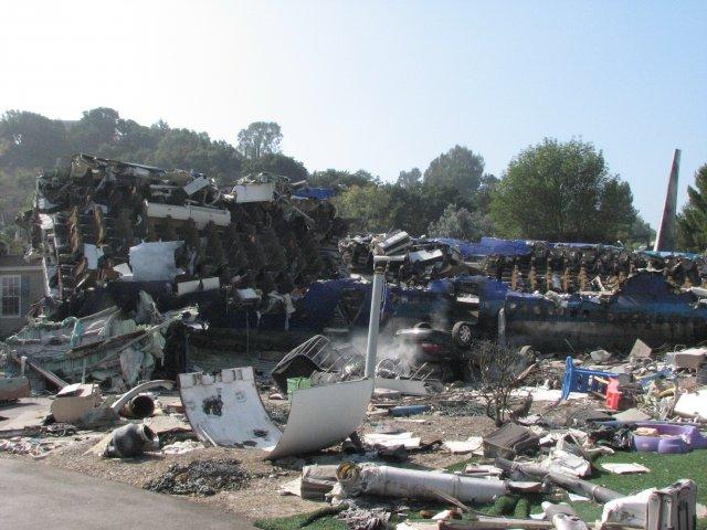 Крушение самолета, студия Юниверсал Голливуд