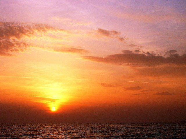 Закат в бухте Клеопатры, Аланья, Турция