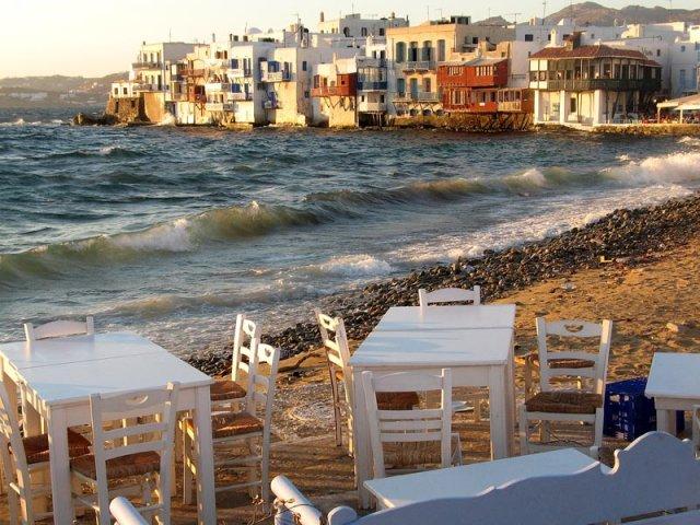 """Маленькая Венеция"" на острове Миконос, Греция"
