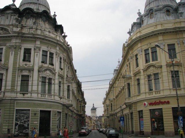 Зеркальные здания в городе Клуж-Напока, Румыния