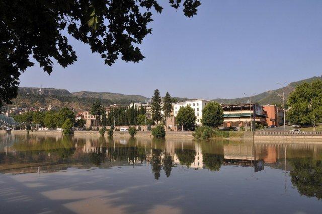 Река Мтквари, Тбилиси, Грузия