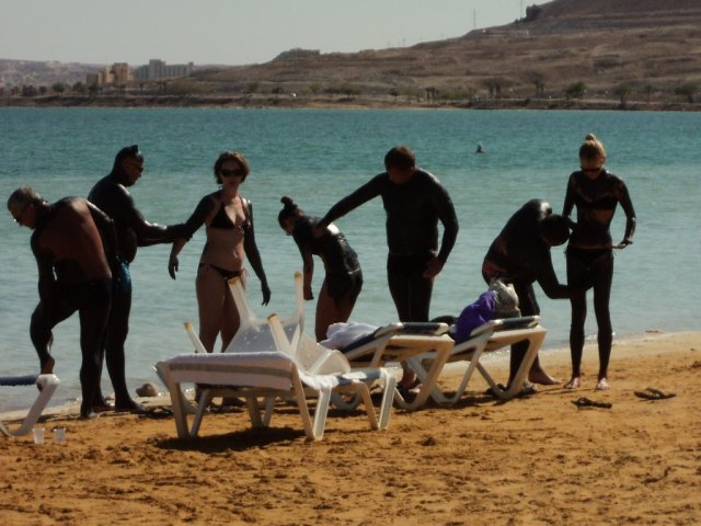 Лечебная грязь на Мертвом море, Израиль