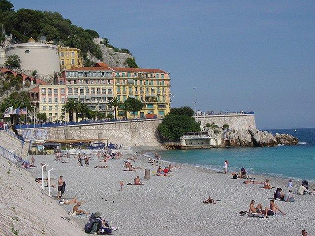 Пляж в Ницце, Лазурный берег Франции