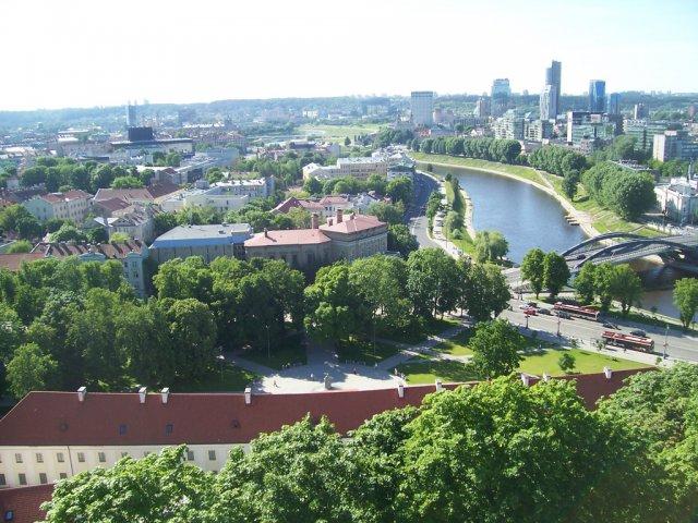 Вид на Вильнюс с Холма Гедиминас, Литва