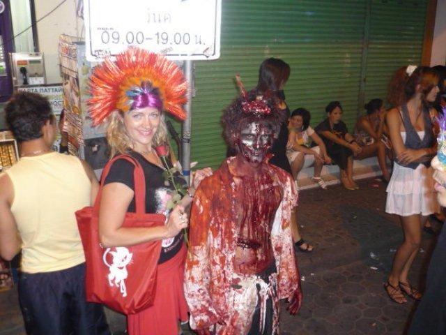 Хэллоуин на Walking Street, Паттайя, Таиланд