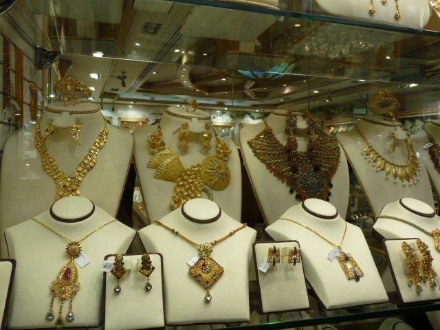 Золотые изделия Дубая