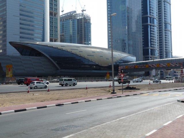 Станция метро в Дубае, ОАЭ
