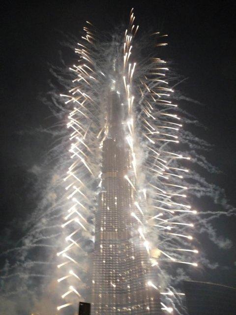 Открытие Burj Khalifa, Дубай