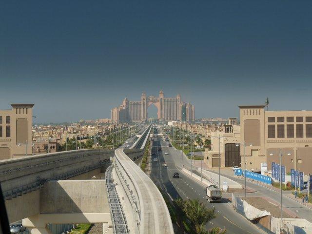 Монорельс к отелю Atlantis, Дубай