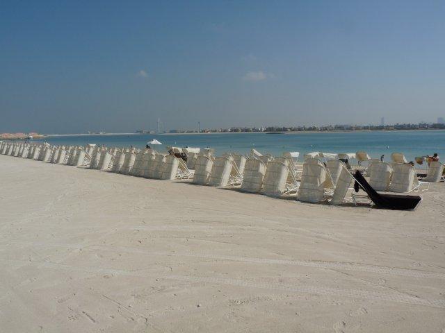 Пляж аквапарка Aquaventure, Дубай