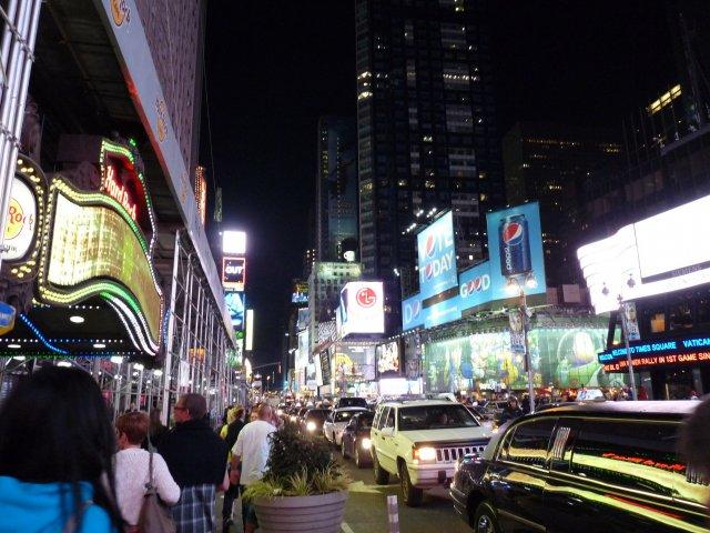 Ночной Бродвей, Нью-Йорк