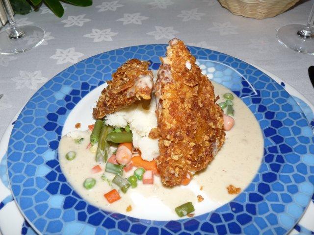 Блюдо из рыбы, ресторан Las Morlas, Sandals Royal Hicacos 5*, Варадеро