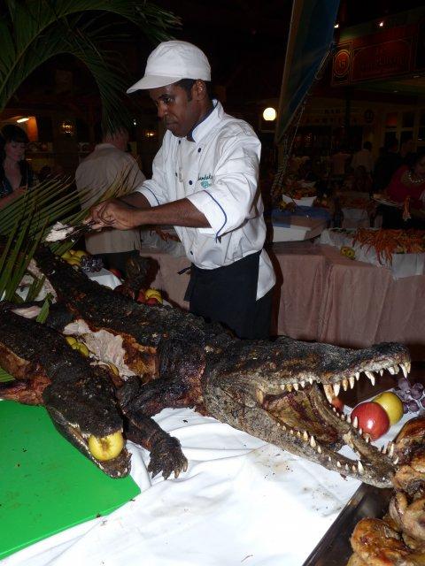 Гриль из крокодила, Sandals Royal Hicacos, Куба
