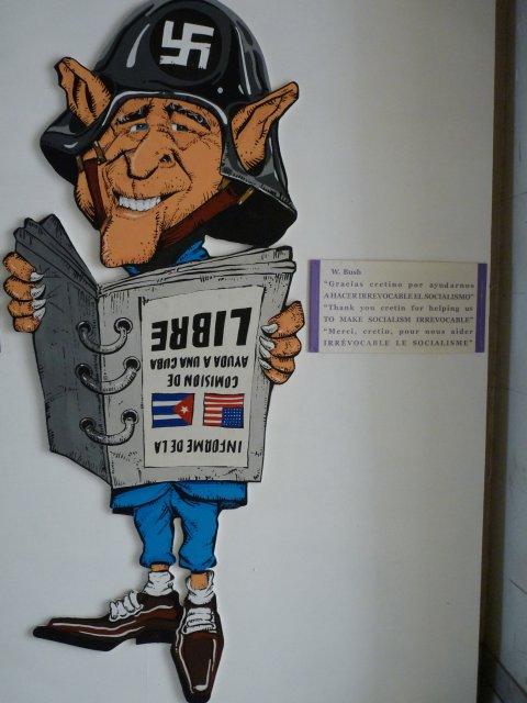 Карикатура Джорджа Буша у входа в Музей революции Гаваны