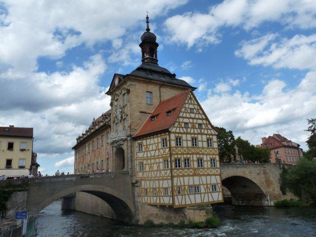 Старая ратуша на реке Регниц, Бамберг, Германия